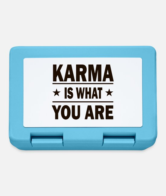 Challenge Accepted Lunchboxes - KARMA IS WHAT YOU ARE! - Lunchbox sapphire blue