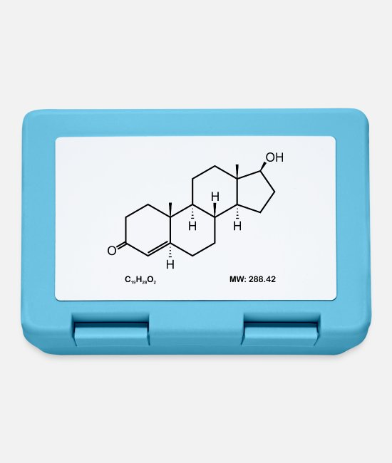 Biology Lunchboxes - Testosterone - Lunchbox sapphire blue