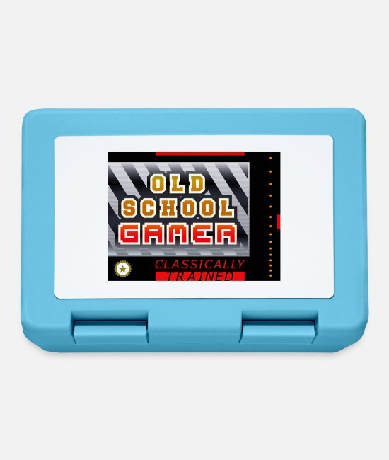 Play Lunchboxes - Old School Gamer (Box) - Lunchbox sapphire blue
