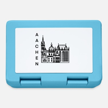 Cologne City of Aachen, cathedral, lineart - Lunchbox