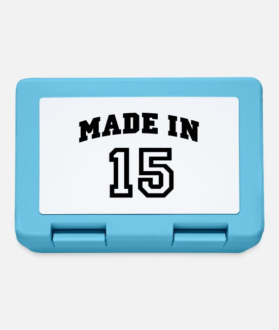 Birth Year Lunchboxes - mp_madein15a - Lunchbox sapphire blue
