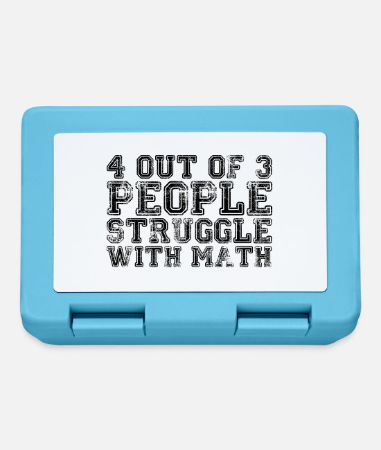 Funny Phrases Lunchboxes - 4 out of 3... - Lunchbox sapphire blue