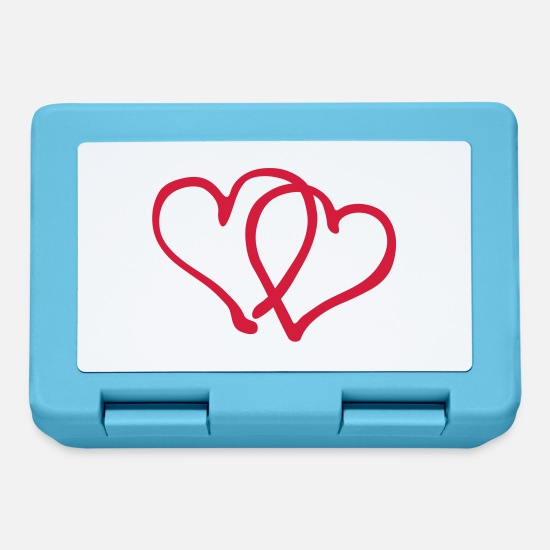 Heart Lunchboxes - Heart Hearts Love - Lunchbox sapphire blue