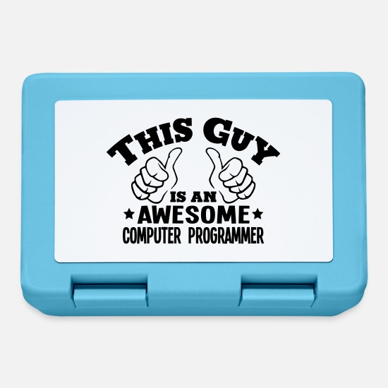 Awesome Lunchboxes - this guy is an awesome computer programm - Lunchbox sapphire blue