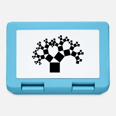 Geometry Pythagorean tree black - Lunchbox