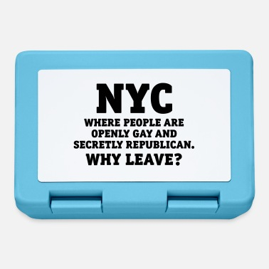 NYC People are openly gay and secretly Republican - Lunchbox
