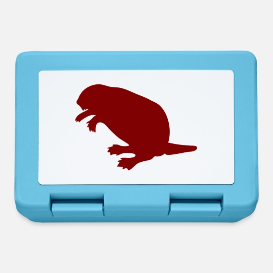 Usa Lunchboxes - beaver biber rodent rodents wood water7 - Lunchbox sapphire blue