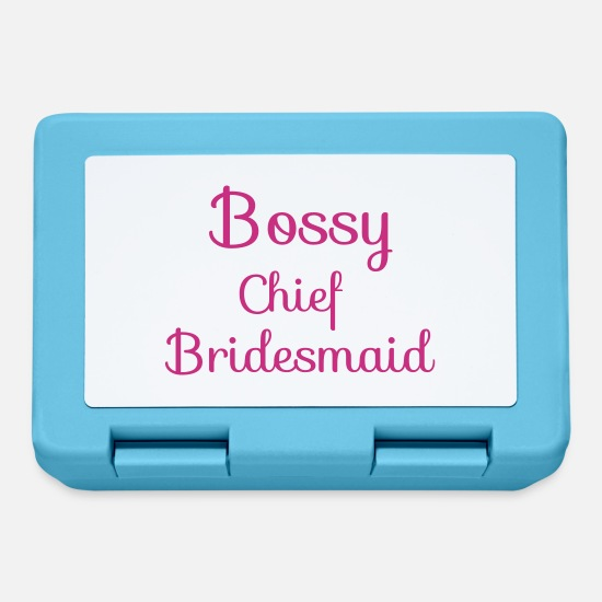 Bridesmaid Lunchboxes - Bossy Chief Bridesmaid - Lunchbox sapphire blue