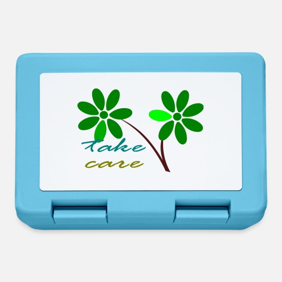 Nature Lunchboxes - Take care green - Lunchbox sapphire blue