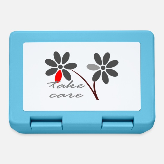 Flowers Lunchboxes - Take care gray - Lunchbox sapphire blue