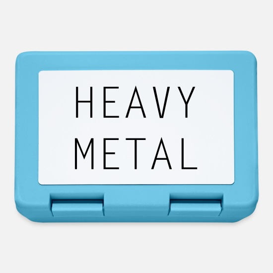 Guitar Lunchboxes - HEAVY METAL - Lunchbox sapphire blue