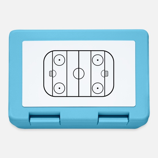 Hockey Lunchboxes - Hockey field - Lunchbox sapphire blue