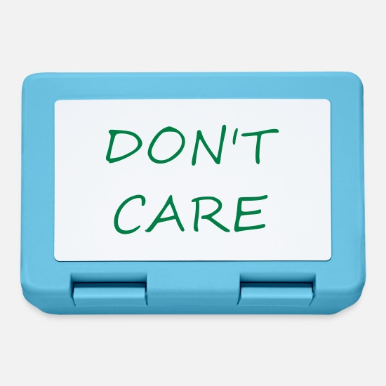 Worry Lunchboxes - Do not care - Lunchbox sapphire blue