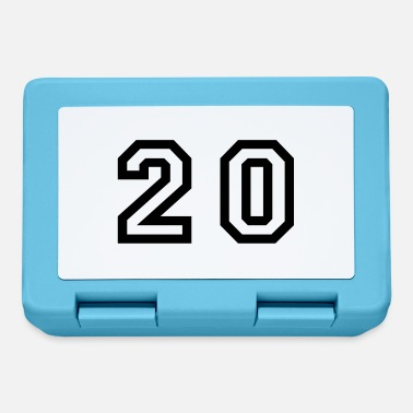 Twenty number - 20 - twenty - Lunchbox