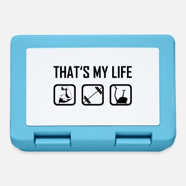This is my life - fitness dumbbells sports muscles - Lunchbox