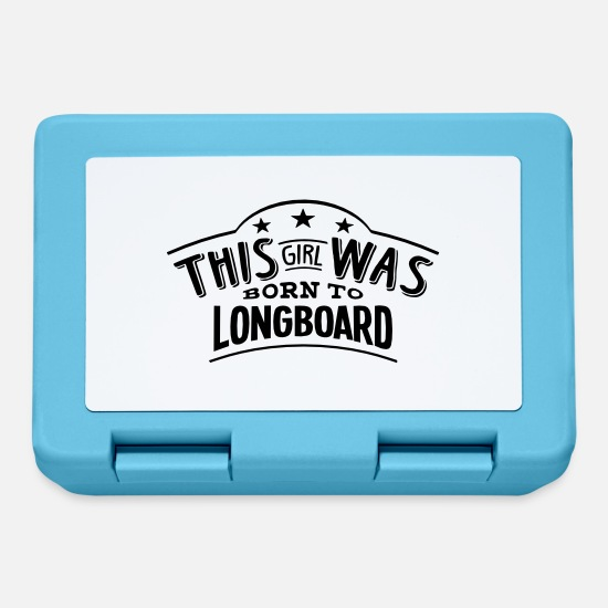 Longboard Lunchboxes - this girl was born to longboard - Lunchbox sapphire blue
