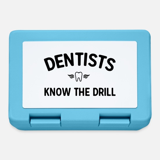 Career Lunchboxes - Dentists know the drill - Lunchbox sapphire blue