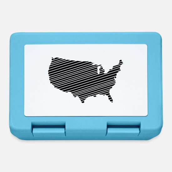 New York Lunch boxes - USA - Lunch box blu zaffiro
