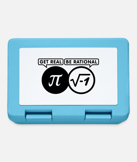 Real Lunchboxes - get real - be rational (1c) - Lunchbox sapphire blue