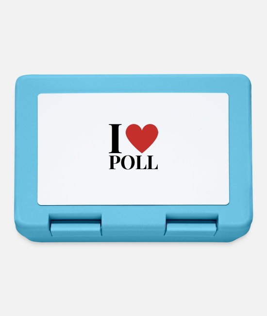 Heart Lunchboxes - I LOVE POLL - Lunchbox sapphire blue