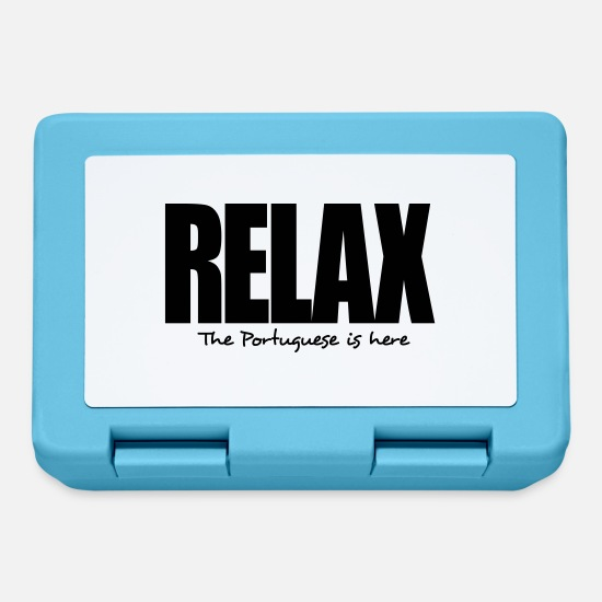Portuguese Lunchboxes - relax the portuguese is here - Lunchbox sapphire blue