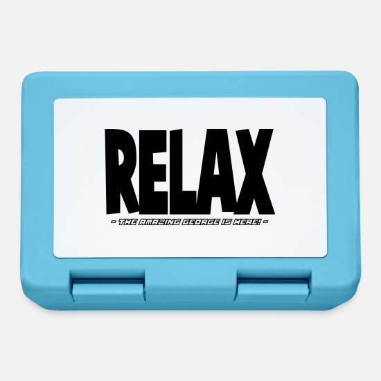 Here Lunchboxes - relax the amazing george is here - Lunchbox sapphire blue
