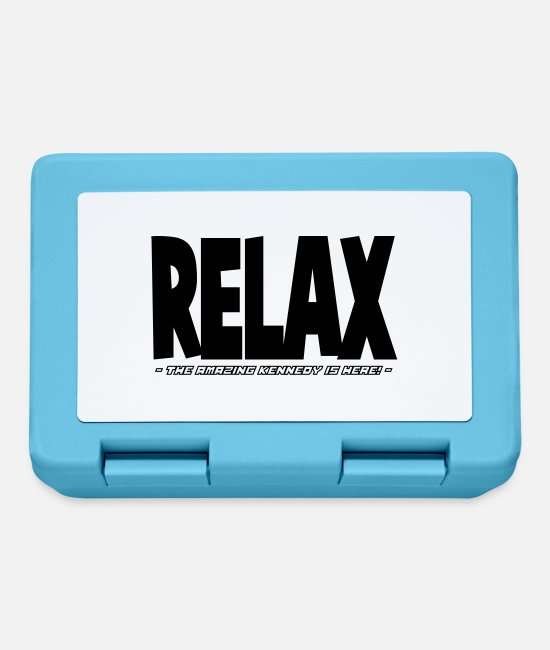 Relax Lunchboxes - relax the amazing kennedy is here - Lunchbox sapphire blue