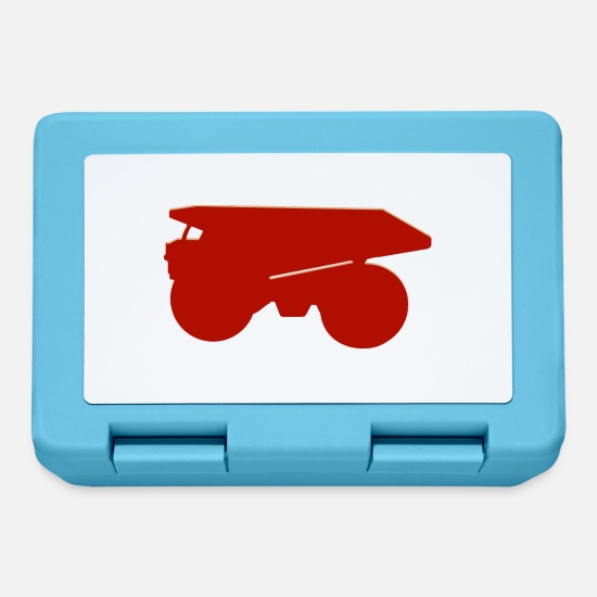 Truck Lunchboxes - Large dump truck - Lunchbox sapphire blue