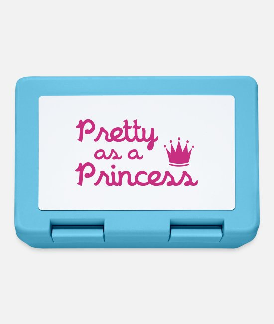 Crown Lunchboxes - Pretty As A Princess - Lunchbox sapphire blue