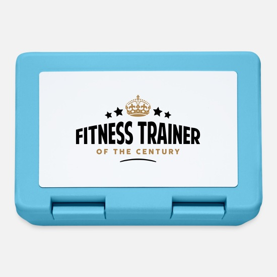 Century Lunchboxes - fitness trainer of the century funny - Lunchbox sapphire blue