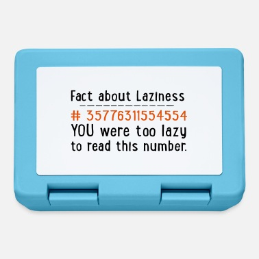 Laziness lazy - Lunchbox