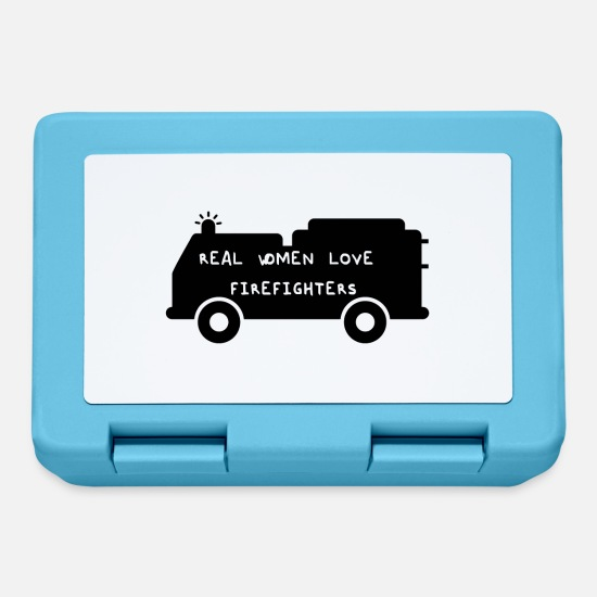Fire Extinguisher Lunchboxes - Fire Department: Real Women Love Firefighters - Lunchbox sapphire blue
