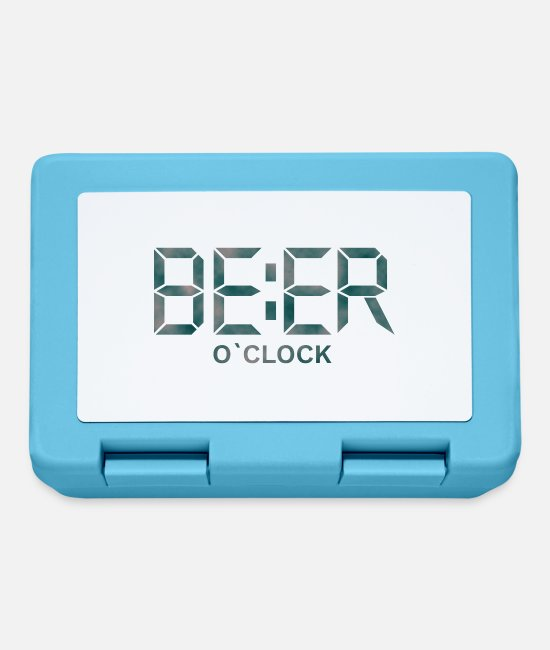 Wheat Beer Lunchboxes - Beer o'clock - Lunchbox sapphire blue