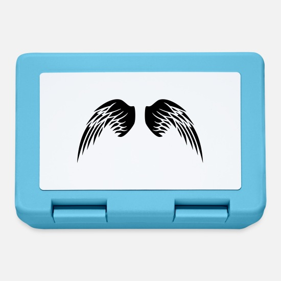 Disegno Lunch boxes - Angel Wings - Lunch box blu zaffiro