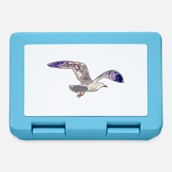 Flight Lunchboxes - gull - Lunchbox sapphire blue