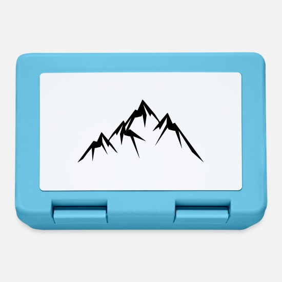 Mountains Brotdosen - mountains icon - Brotdose Saphirblau