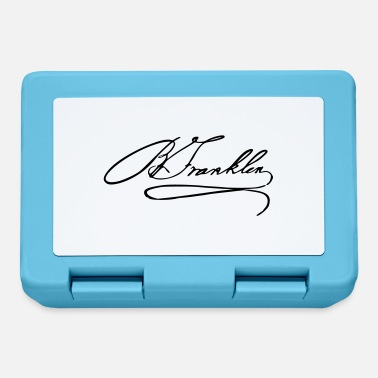 Benjamin Autograph of Benjamin Franklin - Lunchbox