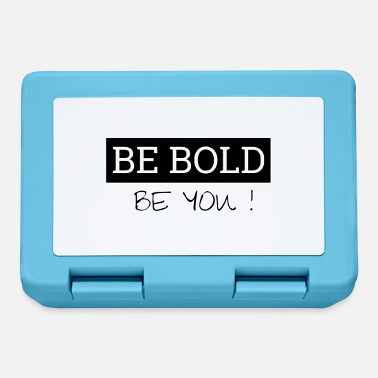 Gift Idea Lunchboxes - Be Bold - Be You - Lunchbox sapphire blue