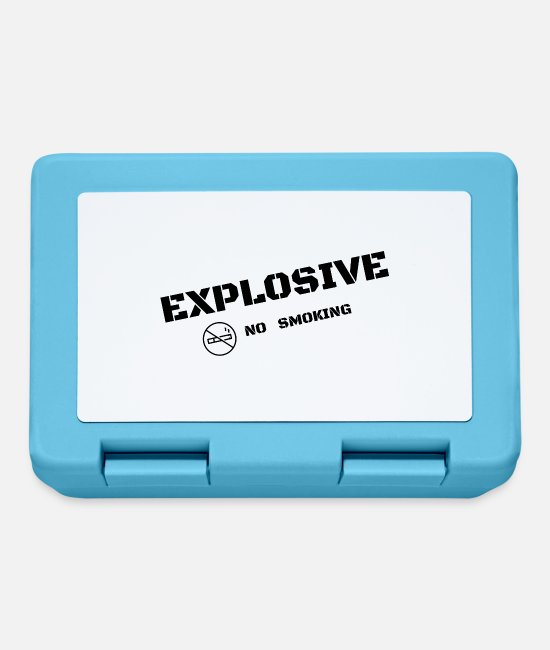Explosion Lunchboxes - EXPLOSIVE - No smoking - Lunchbox sapphire blue