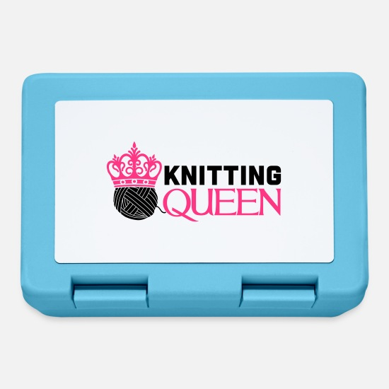Wool Lunchboxes - Knitting queen - Lunchbox sapphire blue