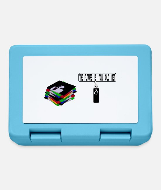 Quote Lunchboxes - Floppy disk against USB - Lunchbox sapphire blue