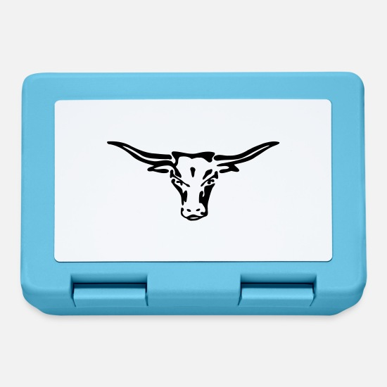 Rosso Lunch boxes - texas exit-shirt Longhorn - Lunch box blu zaffiro