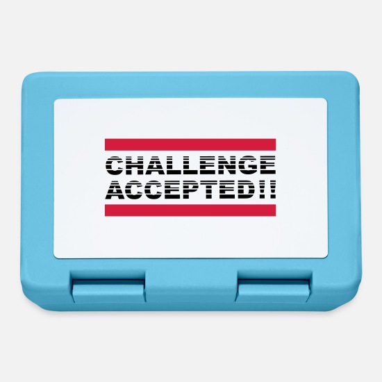 Challenge Accepted Lunchboxes - Challenge Accepted Design - Lunchbox sapphire blue