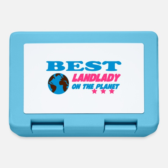 Boss Lunchboxes - Best landlady on the planet - Lunchbox sapphire blue