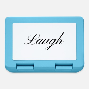 Laugh Laugh your smile in love laughing laughing - Lunchbox