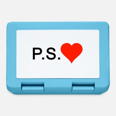 Ps PS Love love heart - Lunchbox