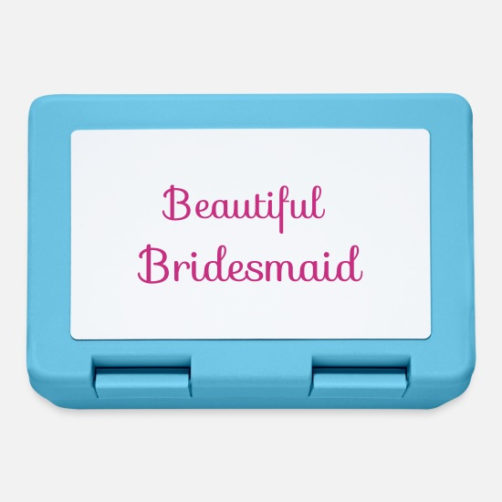 Bride Lunchboxes - beautiful bridesmaid - Lunchbox sapphire blue
