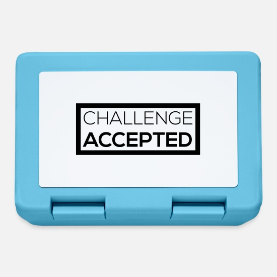 Meme Lunchboxes - Challenge Accepted - Lunchbox sapphire blue