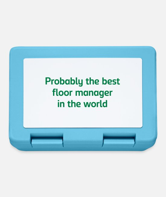 Floor Hockey Lunchboxes - Probably the best floor manager in the w - Lunchbox sapphire blue