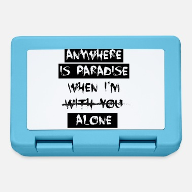 anywhere is paradise when - Lunchbox